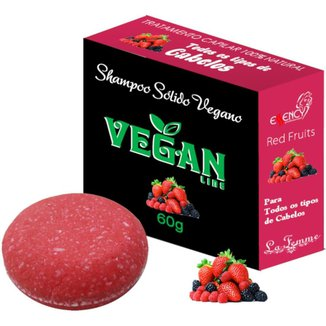 Shampoo Sólido em Barra Vegan Line-Frutas Vermelhas