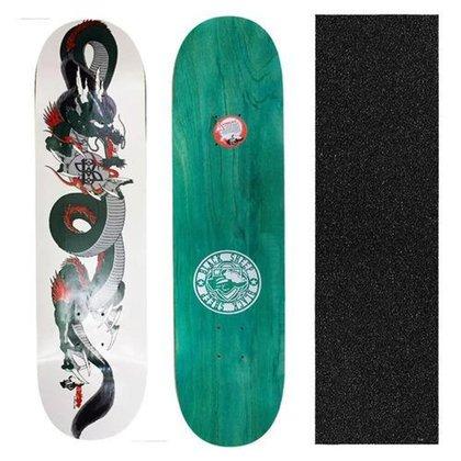 Shape Black Sheep Profissional Dragão 8.0 + Lixa para Skate Nacional