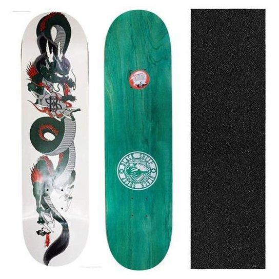 Shape Black Sheep Profissional Dragão 8.0 + Lixa para Skate Nacional - Única
