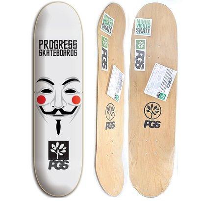 Shape de skate Progress - PGS Anonimus 8.0 + Lixa Grátis - Unissex