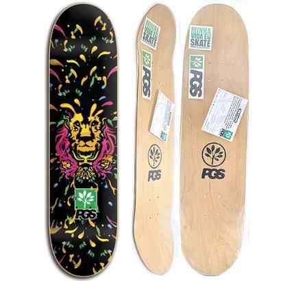 Shape de skate Progress - PGS Leão Colors 8.0 + Lixa Grátis - Unissex