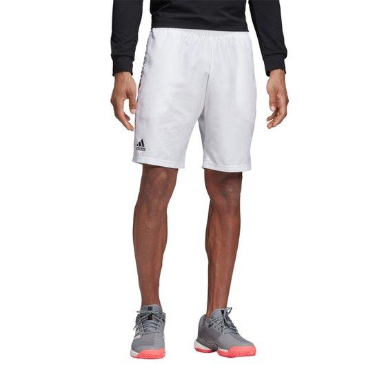 Short Adidas Club 9 Masculino - Branco+Preto
