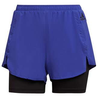 Short Adidas D2M 2 Em 1 Feminino
