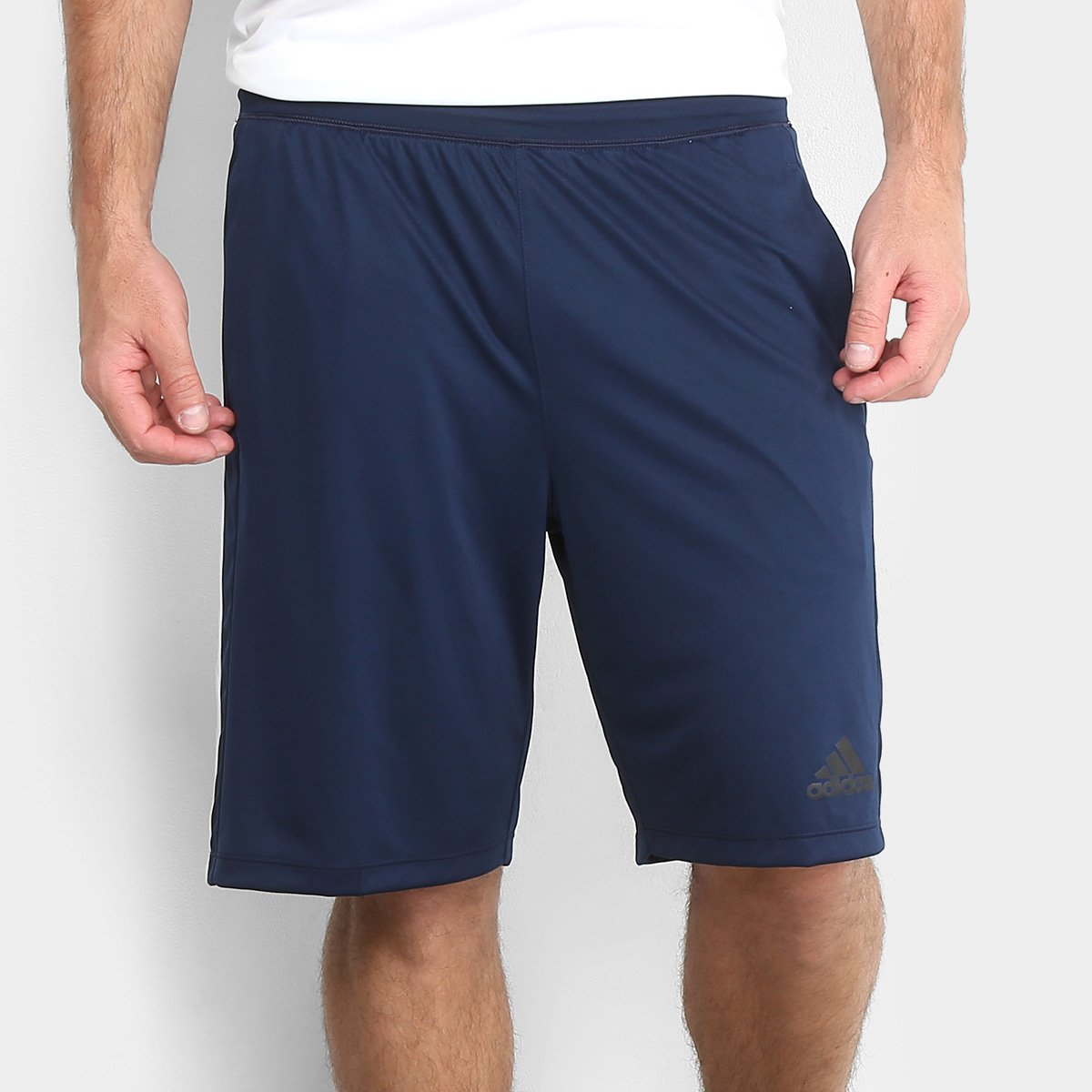 3d9c16c6e Short Adidas D2M 3S Masculino - Marinho e Branco | Netshoes