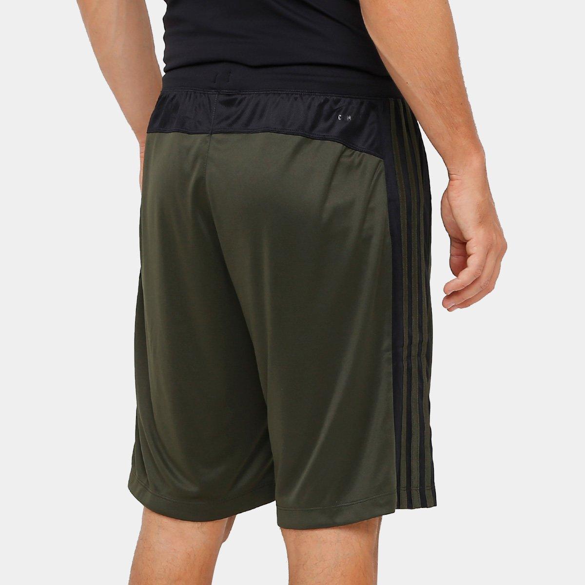 f1cfc3dc23a ... 67e9425d66 Short Adidas D2M 3S Masculino - Verde e Preto - Compre Agora  ...