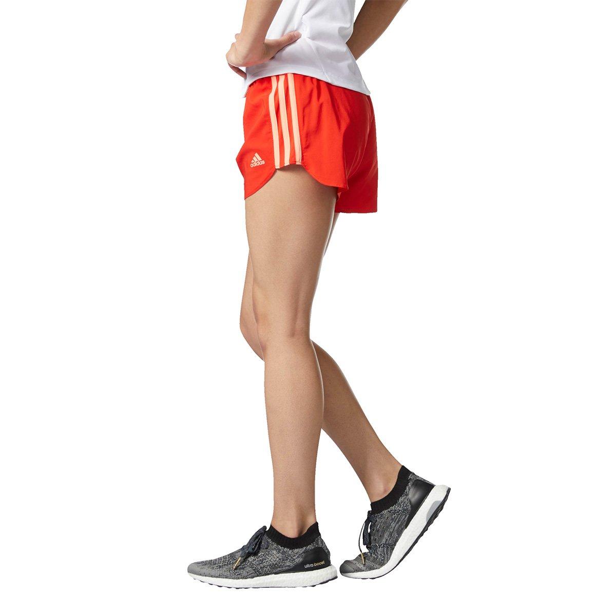Short Adidas Marathon 4 Polegadas Feminino - Vermelho - Compre Agora ... c8a2ee39ffffa