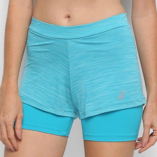 "Short Asics Color 2""1 Feminino - Azul Piscina"