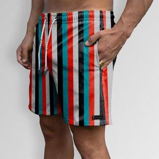 Short Bermuda Jon Cotre Linhas Style Masculino