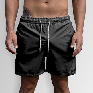 Short Bermuda Jon Cotre  Masculino Preto Liso Básico