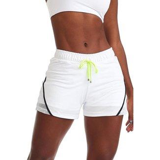 Short Fitness Neon Branco M CAJUBRASIL