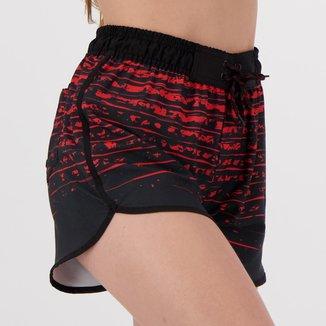 Short Flamengo Cushy Feminino Vermelho e Preto