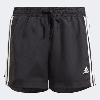 Short Infantil Adidas D2M 3 Stripes Feminino