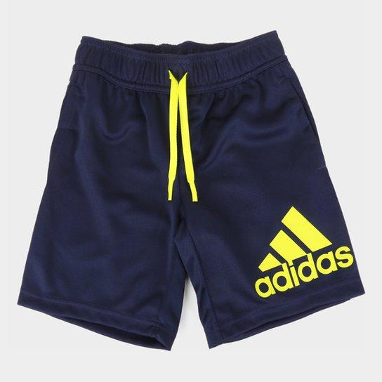 Short Infantil Adidas D2m Masculino - Marinho+Branco