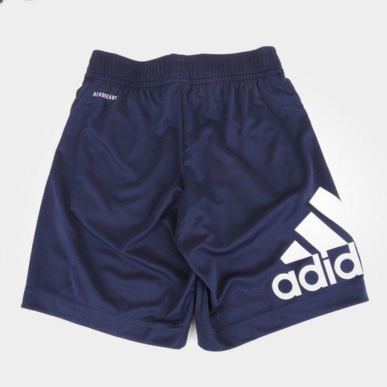 Short Infantil Adidas Equip Knit Masculino - Marinho+Branco