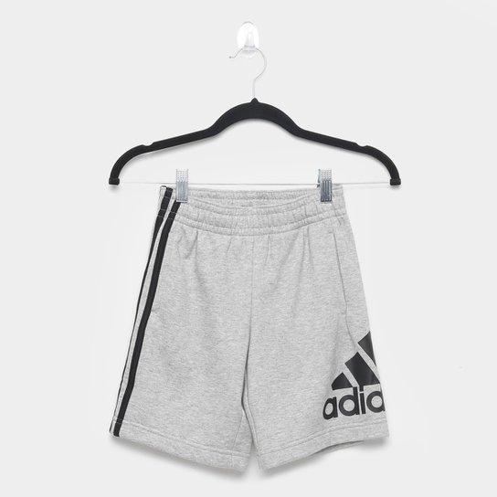 Short Infantil Adidas Jb Bos Masculino - Cinza+Preto