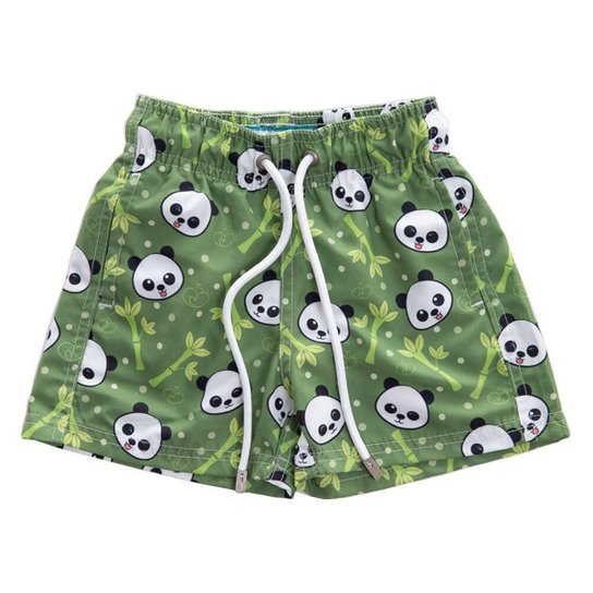 Short Infantil Bidoo Pandas Masculino - Verde