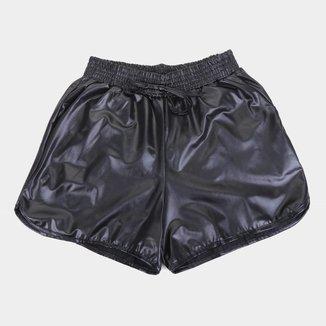 Short Infantil Costão Boxer Cirrê Feminina