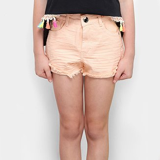 Short Infantil Dimy Candy Color Feminino