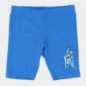 Short Infantil Disney Cinderela Castelo Feminino