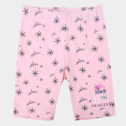Short Infantil Disney Princess Feminino