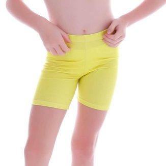 Short Infantil Legging Amarela - Cecí