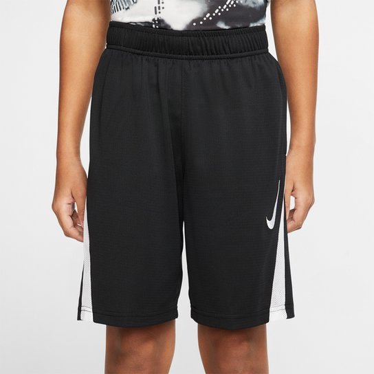 Short Infantil Nike B Core Training Masculino - Preto+Branco