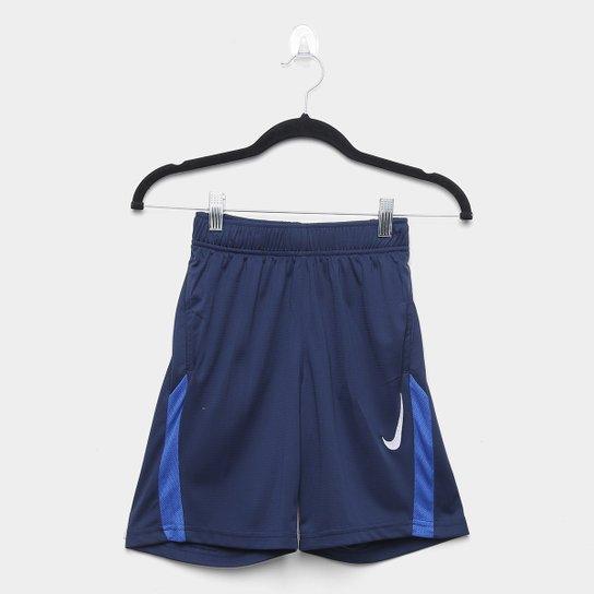 Short Infantil Nike B Core Training Masculino - Marinho+Branco