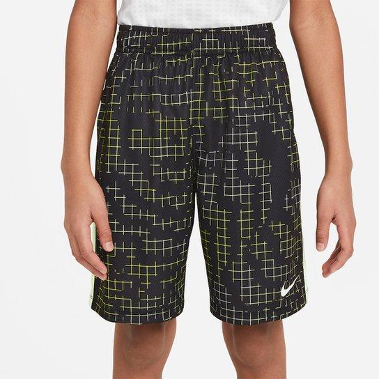 Short Infantil Nike Dri-Fit Rtlp Masculino - Preto+Amarelo