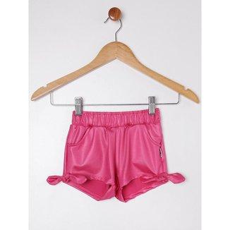 Short Infantil Para Menina - Pink