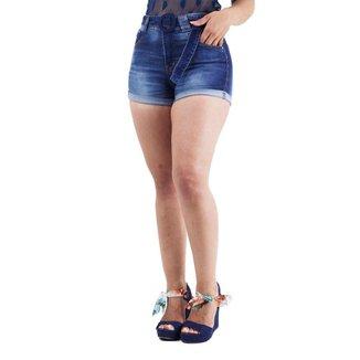 Short Jeans com Cinto e Barra Dobrada Naraka