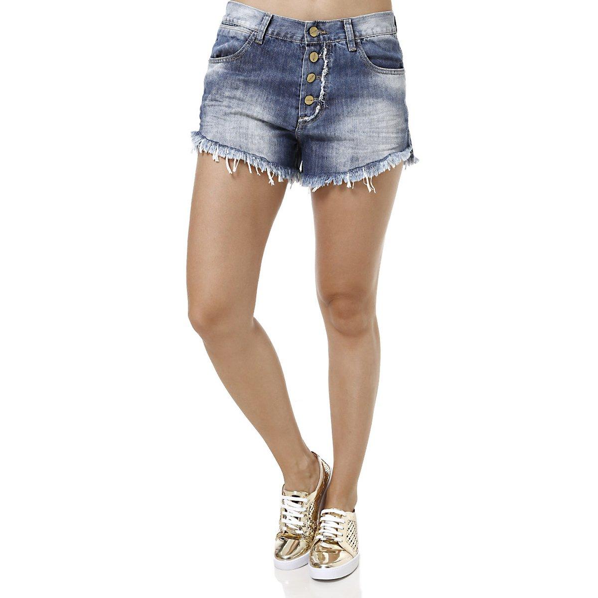 dc74d8901 Short Jeans Feminino Sawary Azul | Netshoes