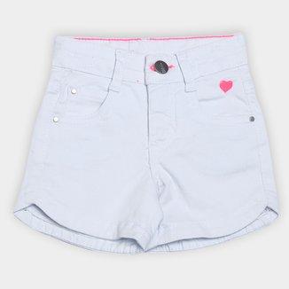 Short Jeans Infantil Malwee Comfort Feminino