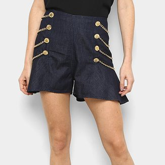 Short Jeans Lança Perfume High Skirt Feminino