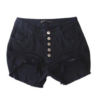 Short Jeans Miller Feminino Cintura Alta Com Botões
