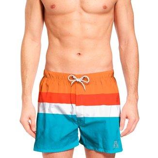 Short Jon Cotre Retrô Vintage Plus Size Masculino Praia
