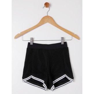 Short Juvenil Para Menina - Preto