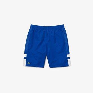 Short masculino Lacoste SPORT Tennis em tecido leve com colorblock