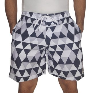 Short Masculino Tactel Estampado Geométrico Conforto Praia