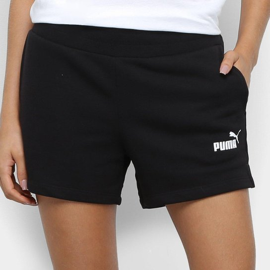 Short Moletom Puma Ess Sweat Tr Feminino - Preto