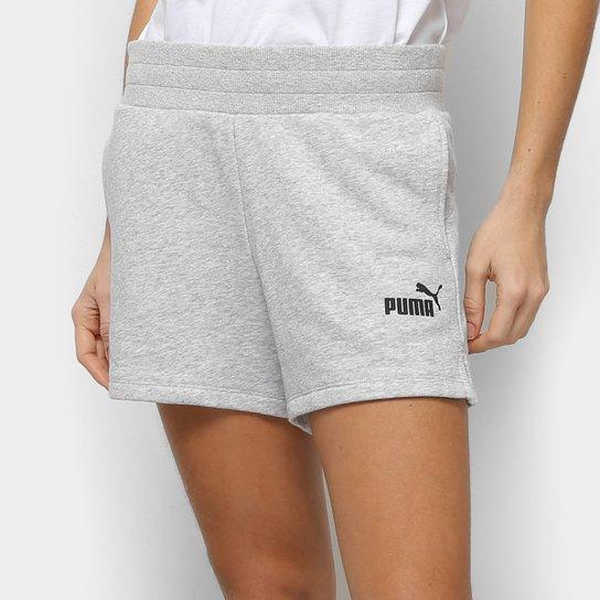 Short Moletom Puma Ess Sweat Tr Feminino - Cinza