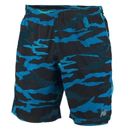 Short New Balance Accelerate 7IN Masculino - Preto e Azul