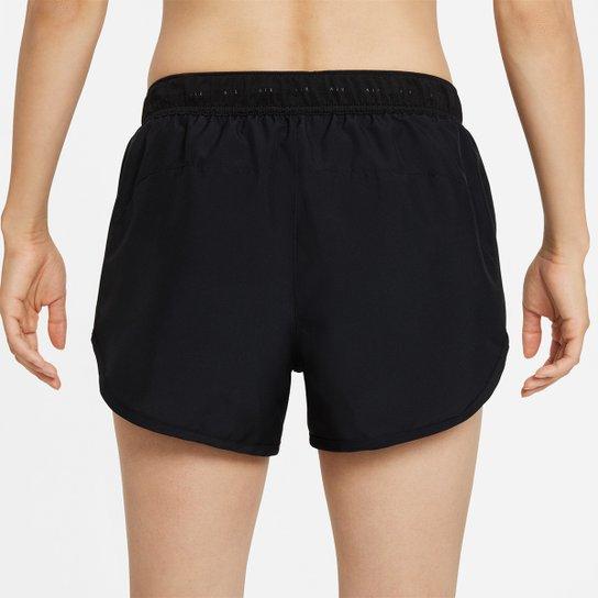 Short Nike Air Dri-Fit Feminino - Preto+Branco