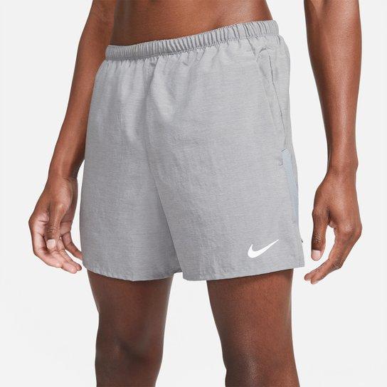 Short Nike Challenger 5BF Masculino - Cinza+Prata