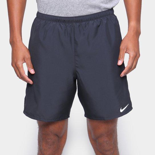 Short Nike Challenger Masculino - Preto+Prata