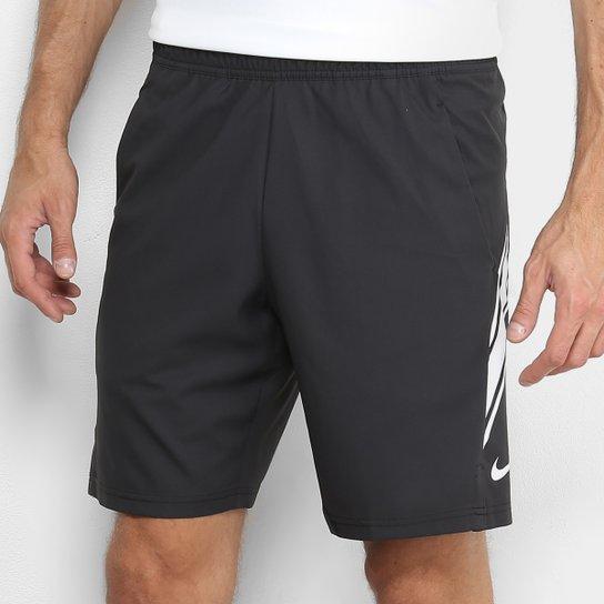 Short Nike Court Dry 9IN Masculino - Preto+Branco