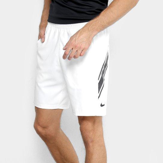 Short Nike Court Dry 9IN Masculino - Branco+Preto