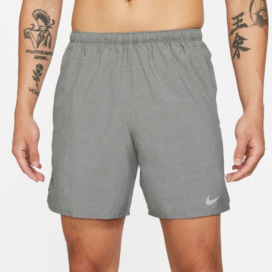 Short Nike Df Challenger 7UL Masculina - Cinza+Prata