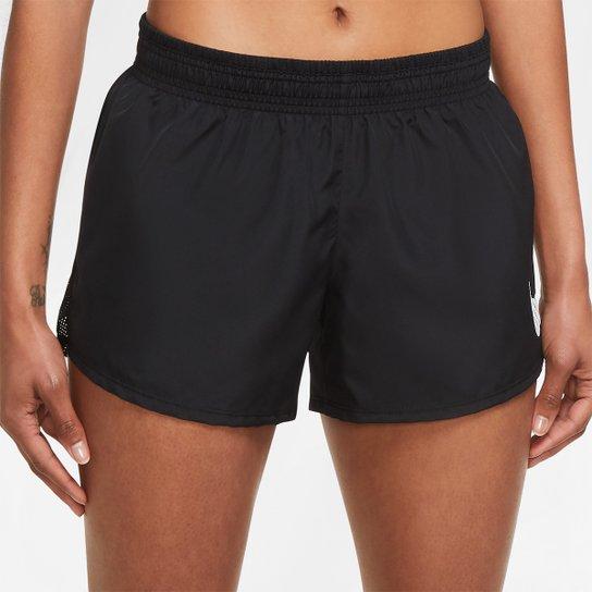 Short Nike Dri-fit Icon Clash 10K Feminino - Preto+Branco
