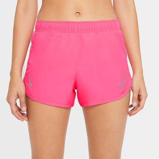 Short Nike Dri-fit Tempo Race Feminino - Pink+Prata