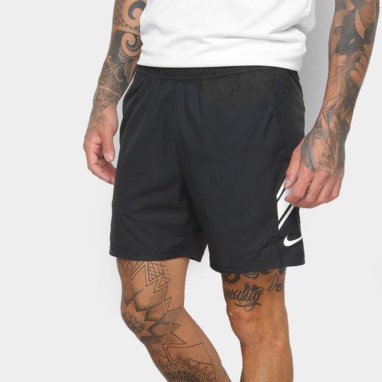 Short Nike Dry 7IN Masculino - Branco+Preto